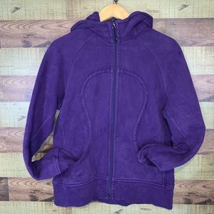 Lululemon Scuba Hoodie in EUC size 12 in purple.